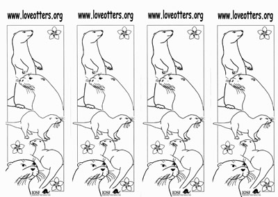 Click to download the Love otters bookmark